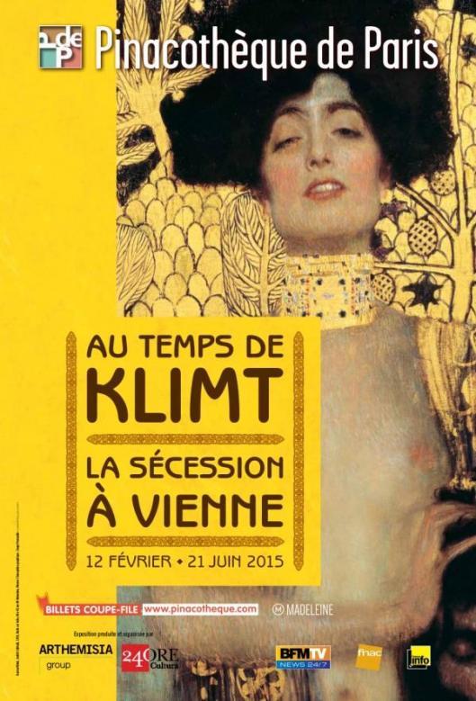 Au Temps de Klimt, la Sécession à Vienne exhibition Pinacothèque de Paris poster