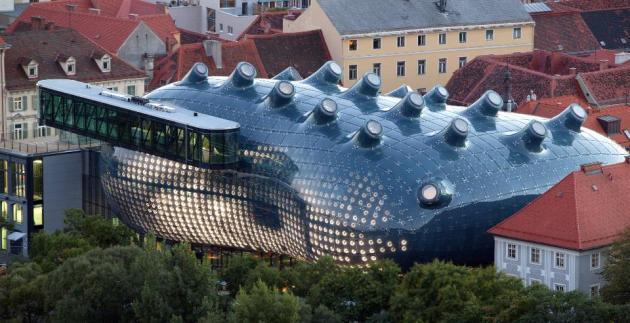 Colin Fournier Peter Cook Kunsthaus Graz 2003