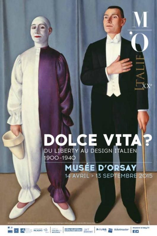 Dolce vita Du Liberty au design italien Orsay Paris poster