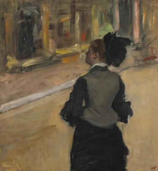 Edgar Degas Woman Viewed from Behind (Visit to a Museum) ca 1879 85 NGA Washington