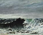 Gustave Courbet The Wave ca 1869 Scottish National Gallery Edinburgh