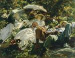 John Singer Sargent Group with Parasols ca 1904 05 priv coll