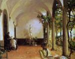 John Singer Sargent Villa Torre Galli The Loggia 1910 priv coll