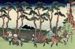 Katsushika Hokusai Hodogaya on the Tôkaidô from the series 36 Views of Mount Fuji 1830 31 woodcut