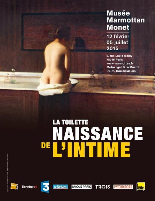 La toilette naissance de l'intime exhibition poster
