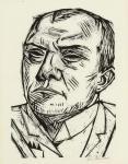Max Beckmann Self-Portait 1922 woodcut