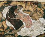 Egon Schiele Death and Maiden Man and Girl 1915 Belvedere Vienna