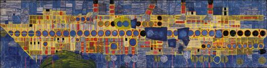 Friedensreich Hundertwasser 150 Singing Steamer in Ultramarine III 1952 59 Hundertwasser Private Collection Vienna