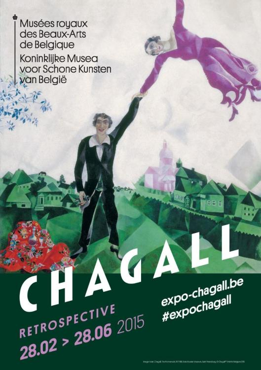 Marc Chagall Brussels poster