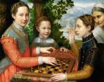 Sofonisba Anguissola The Chess Game 1555 National Museum in Poznan Raczynski Foundation