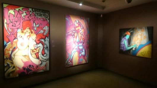 00 Pressionism the Masterpieces of Graffiti on Canvas exhibition view Pinacothèque de Paris artdone