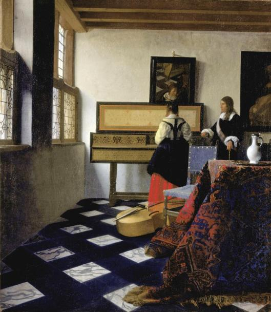 Johannes Vermeer A Lady at the Virginal with a Gentleman The Music Lesson ca 1662 65 Windsor