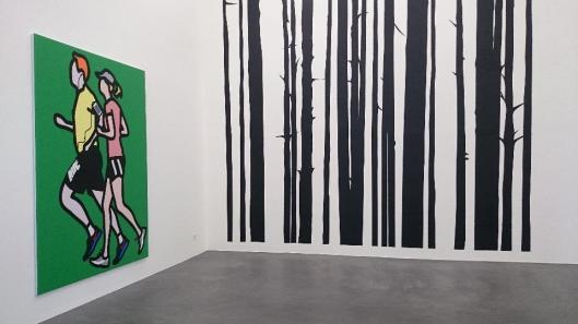 Julian Opie exhibition view 2015 Galerie Bob van Orsouw artdone