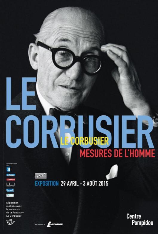Le Corbusier Pompidou Paris poster