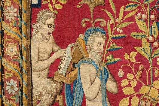 Mercury with the Zodiac Sign Cancer June Tapestry from the series The Twelve Months Brussels ca 1560 70 KHM Vienna
