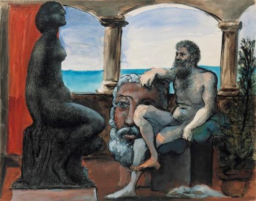 Pablo Picasso The Sculptor and His Statue 1933 watercolor gouache ink Museum Berggruen Berlin