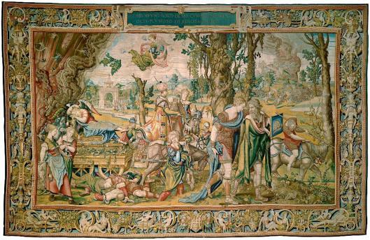 Pieter Coecke van Aelst Willem de Pannemaker Acedia Tapestry from the series The Seven Deadly Sins ca 1548 49 KHM Vienna