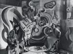 Sonia Delaunay and two friends in Robert Delaunay's studio rue des Grands-Augustins Paris 1924
