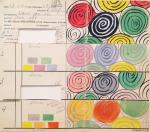 Sonia Delaunay Design for Silk 1317 pankarte created for Metz & Co priv coll
