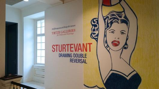 Sturtevant. Drawing Double Reversal exhibition Albertina Vienna artdone