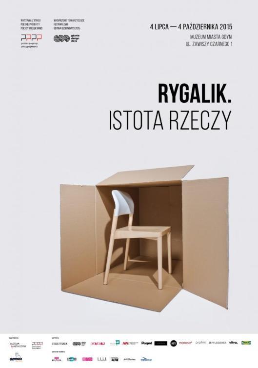 Tomek Rygalik Istota rzeczy Muzeum Miasta Gdyni Gdynia plakat poster