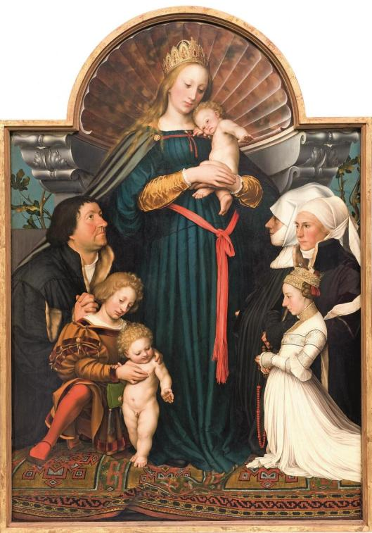 Hans Holbein the Younger The Madonna With the Family of Mayor Meyer 1525 26 1528 Sammlung Würth Collection Wurth