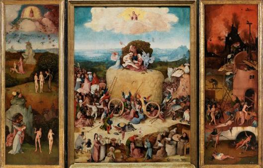 Hieronymus Bosch Triptych of Haywain ca 1516 Prado Madrid
