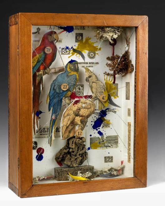 Joseph Cornell Habitat Group for a Shooting Gallery 1943 Des Moines Art Center