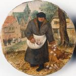 Pieter Brueghel the Younger Wealthy Man Strewing Roses (part of a series of 4 proverbs) 1596 private collection