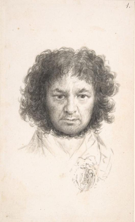 Francisco de Goya Self Portrait 1795 97 brush wash Metropolitan Museum of Art New York