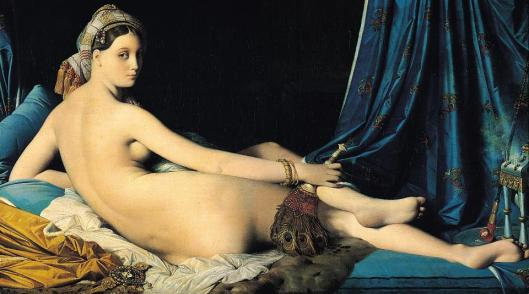 Jean Auguste Dominique Ingres La Grande Odalisque 1814 Louvre Paris