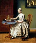 Jean-Étienne Liotard Duch Girl at Breakfast 1756 57 oil on canvas priv coll