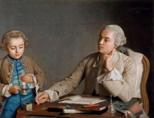 Jean-Étienne Liotard L'Ecriture 1752 pastel Schonbrunn Palace loan KHM Vienna