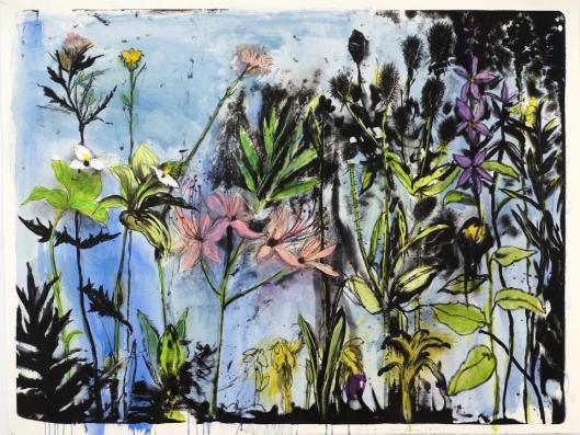 Jim Dine Wildflowers of New York I 2013 lithograph