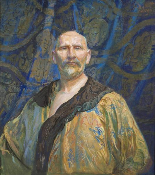 Leon Wyczółkowski Self-Portrait in a Semi-Official Chinese Male Robe Longpao 1911 pastel MNW Warsaw