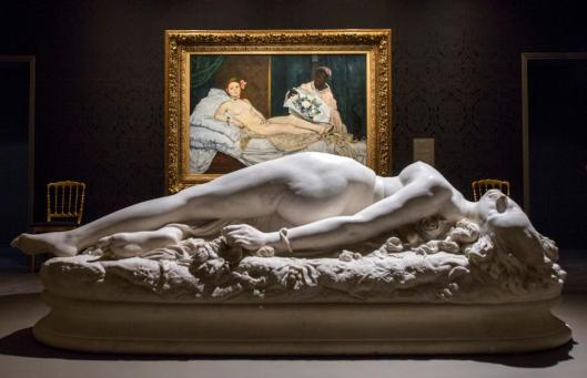 Splendor and Misery Images of Prostitution exhibition view Musée d'Orsay photo by Sophie Boegly Manet