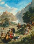 Eugène Delacroix Arabs Skirmishing in the Mountains 1863 National Gallery of Art Washington NGA