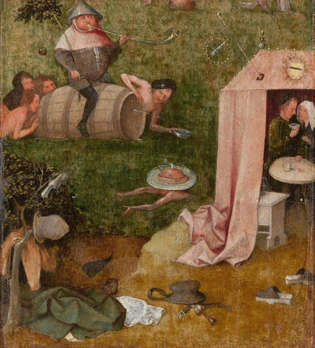 Hieronymus Bosch Glutony fragment of the Ship of Fools ca 1500 10 Yale University Art Gallery New Haven