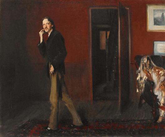 John Singer Sargent Robert Louis Stevenson and his Wife 1885 Crystal Bridges Museum of American Art Bentonville Akansas