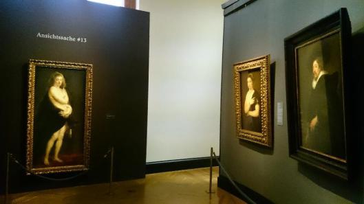 Rubens' Portrait of Helena Fourment exhibition view KHM Vienna artdone