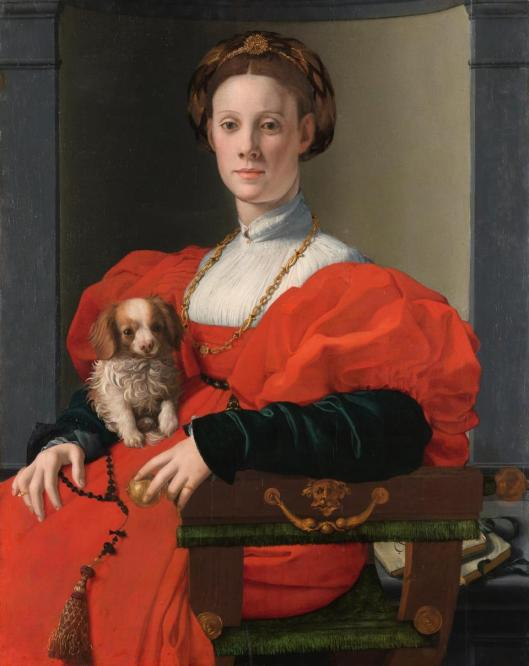 Agnolo Bronzino Portrait of a Lady in Red probably Francesca Salviati ca 1533 Städel Museum Frankfurt am Main