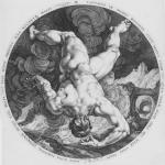 Hendrick Goltzius after Cornelis van Haarlem Tantalus from the The Four Disgracers plate 1 1588 engraving