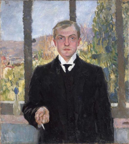 Max Beckmann Self-Portrait in Florence 1907 Hamburger Kunsthalle