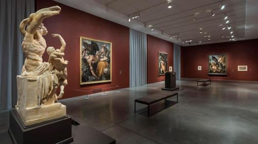 The Wrath of the Gods Masterpieces by Rubens Michelangelo and Titian exhibition view Philadelphia Museum of Art