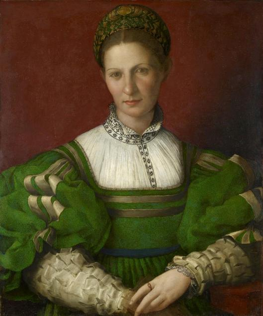 Agnolo Bronzino Portrait of a Lady in Green ca 1530 32 Windsor