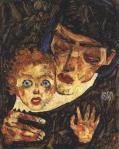 Egon Schiele Mother nad Child II 1912 Leopold Museum Vienna