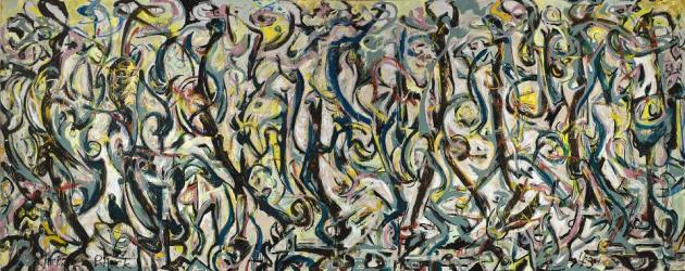 Jackson Pollock Mural 1943 University of Iowa Museum of Art Iowa City