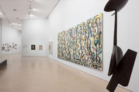 Jackson Pollock's 'Mural' Energy Made Visible exhibition view Deutsche Bank KunstHalle, Berlin