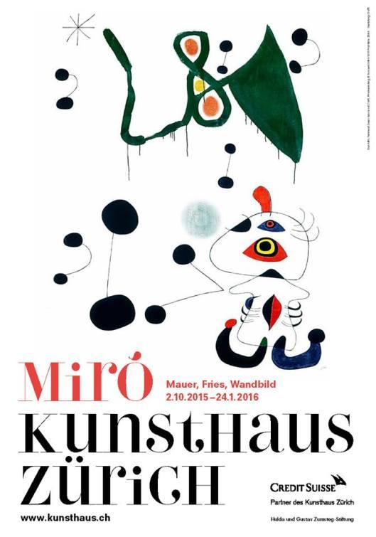 Joan Miró Wall Frieze Mural Kunsthaus Zurich poster