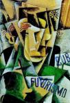 Lyubov Popova Futurist Portrait 1915 Tula Museum Union